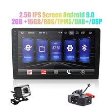 Автомагнитола 2 din, 9 дюймов/10 дюймов, Android 9,0, DSP 2.5D IPS экран, GPS навигация, Wi Fi, Bluetooth, MP5 плеер, передняя и задняя камеры