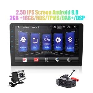 Image 1 - / אנדרואיד 9.0 2 דין רכב רדיו אנדרואיד רכב רדיו DSP 2.5D IPS מסך GPS ניווט WIFI Bluetooth MP5 נגן מול & אחורי מצלמת