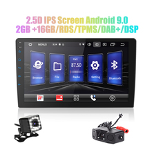 9 / アンドロイド 9.0 2 din カーラジオの Android カーラジオ DSP 2.5D IPS スクリーン GPS ナビゲーション WIFI Bluetooth MP5 プレーヤーのフロント & リアカム