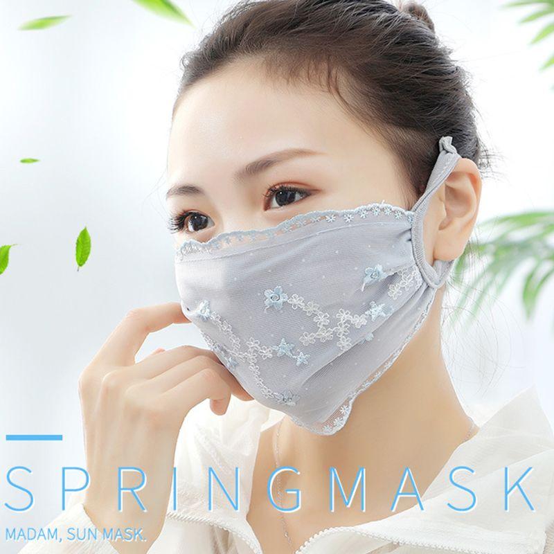 10 шт., винтажная кружевная маска для рта с вышивкой, тонкая дышащая моющаяся противопыльная маска для женщин и девочек, респиратор