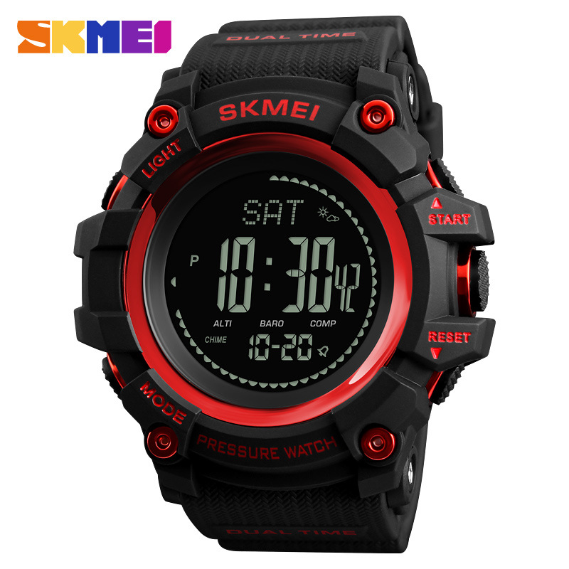 <font><b>SKMEI</b></font> Mens Digital Watch Support Weather Forecast Compass Man Watch Multi-functional Outdoor Sports Male Clock Wristwatches image