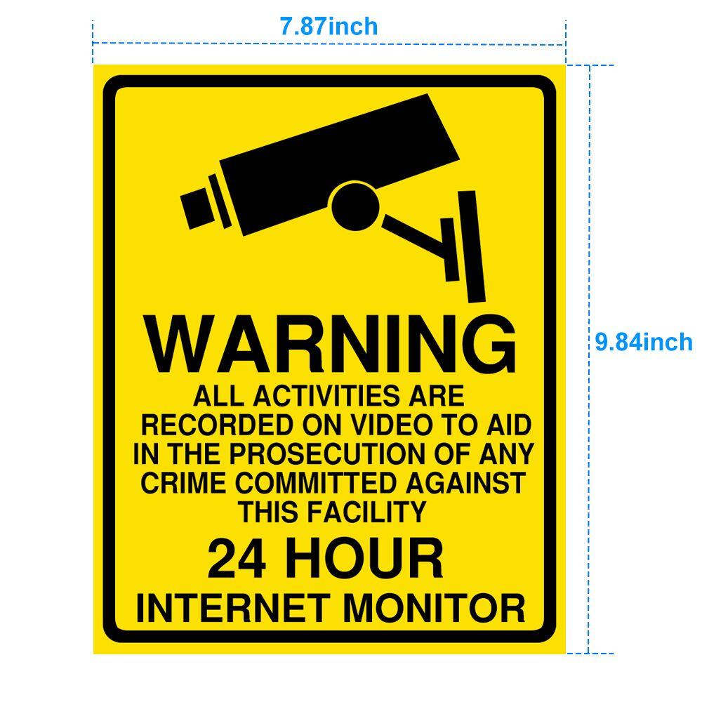 1/5pcs Warning sticker PVC Camera Alarm Sticker Waterproof Sunscreen  Home CCTV Video Surveillance Security  Decal Signs 2