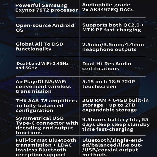 FiiO M11 Pro Android Hi-Res Music Player Bluetooth HiFi Lossless MP3 Player WiFi Aptx-HD Dual AK4497/THX AAA-78/LDAC/DSD/Tidal 6