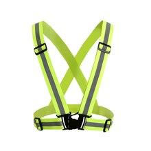 360 градусов высокая видимость неоновый жилет безопасности светоотражающий ремень жилет безопасности подходит для бега Велоспорт Спорт Одежда для улицы