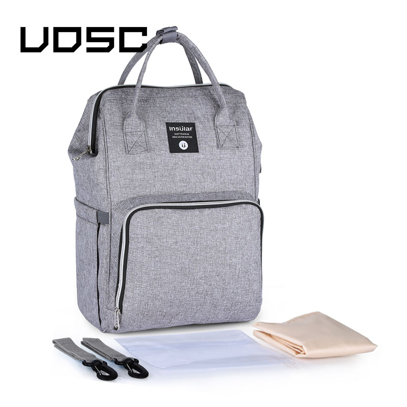UOSC Fashion Backpack Women Leisure Back Pack Korean Ladies Knapsack Casual Travel Bags School Girls Classic Bagpack For Mummy