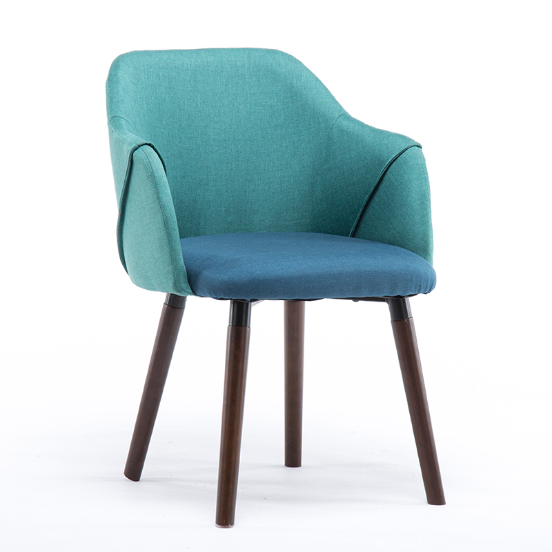 Stylish Casual Minimalist Creative Fabric Chair Solid Wood Dining Chair Hotel Restaurant Cafe Chair