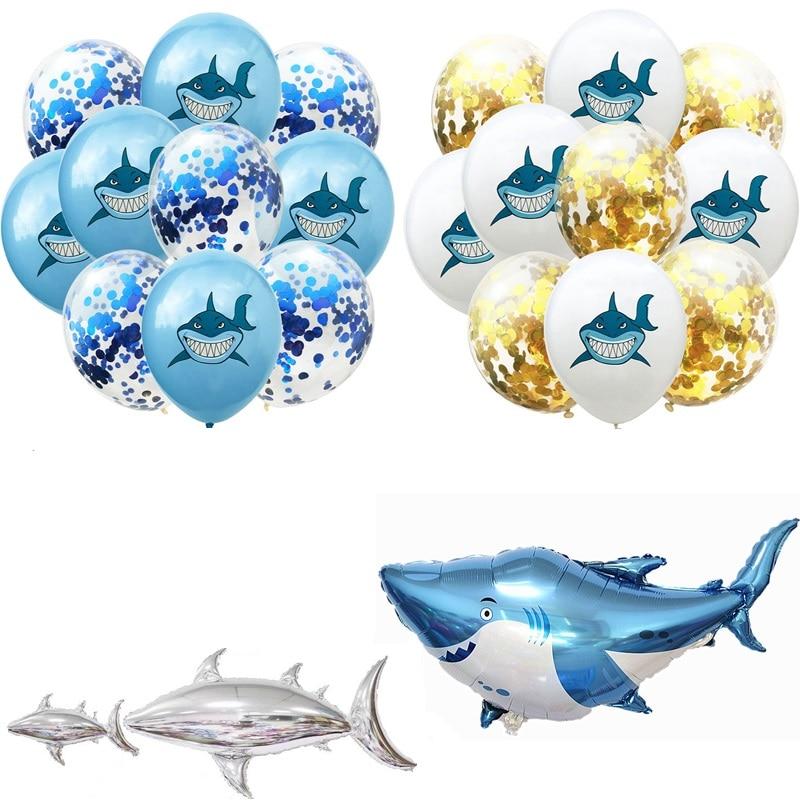 10pcs-12inch-Shark-Confetti-Balloons-Birthday-Party-Decoration-Marine-life-Theme-Sequin-latex-ballons-Baby-Shower