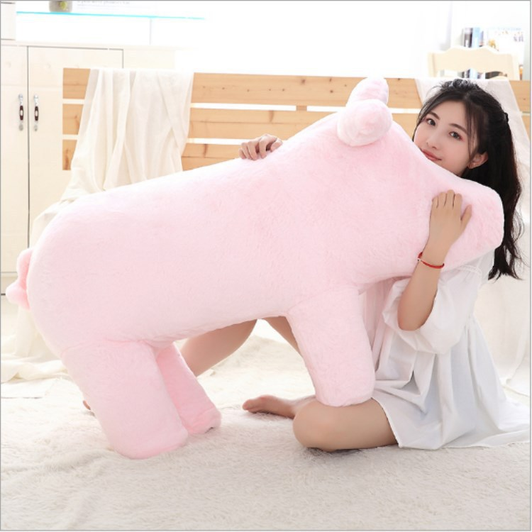 Longing for Life Celebrity Style Network Red Pig Sofa lu dan Piggy  Seat Stool Pink Pig Plush Doll - 3
