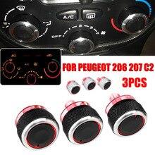 Для PEUGEOT 206 207 C2 переключатель ручки A/C нагреватель кнопка управления кондиционер Кнопка авто аксессуары
