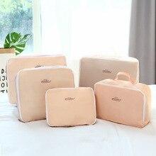 Hot Sale Waterproof Travel Organizer Storage Bag Set Clothes Organizer Bags Pouch Suitcase Home Closet Bags for Storage 5 PCS