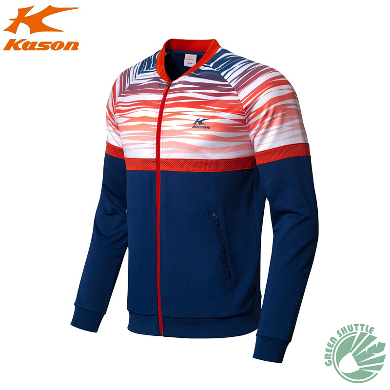 Подлинный касон бадминтон пальто спортивная мужская повседневная спортивная куртка с длинным рукавом FWDM003-3 - Цвет: Армейский зеленый