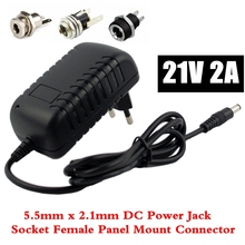 21 В 2А 18650 литиевая батарея зарядное устройство 18 В литиевая батарея зарядное устройство 5,5 мм x 2,1 мм DC разъем питания гнездовой разъем для монтажа в панель