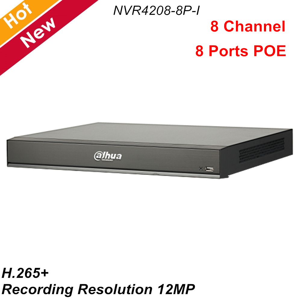 Dahua 8 CH NVR 1U 8 PoE Ports AI Network Video Recorder 2 HDD Smart H.265+ Up to <font><b>12</b></font> Face pictures NVR4208-8P-I for IP Cameras image