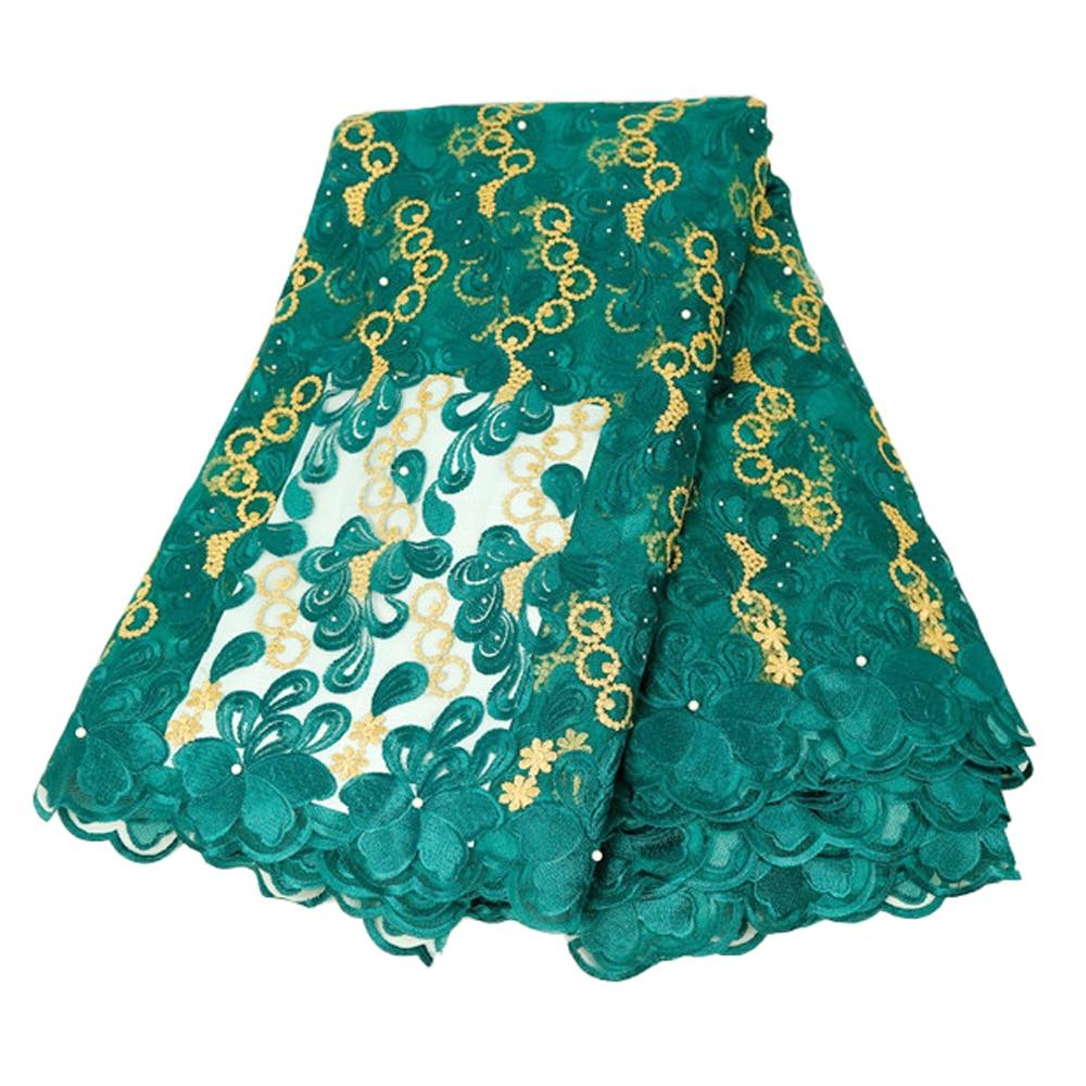 5 Yard maison haute qualité luxueux robe vêtements couture tissus couture africaine dentelle tissu 100% Polyester broderie tissu