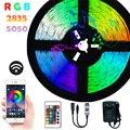 Светодиодные ленты SMD 5050 2835 RGB с поддержкой Bluetooth, Wi-Fi, 5 м, 10 м, 15 м, 20 м