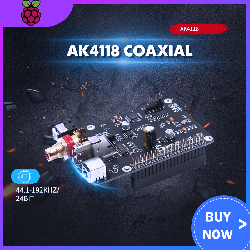 Raspberry Pi AK4118 Coaxial HIFI Sound Card I2S DSD Digital Broadcasting 16/32BIT PCM384 DSD128 G5-001
