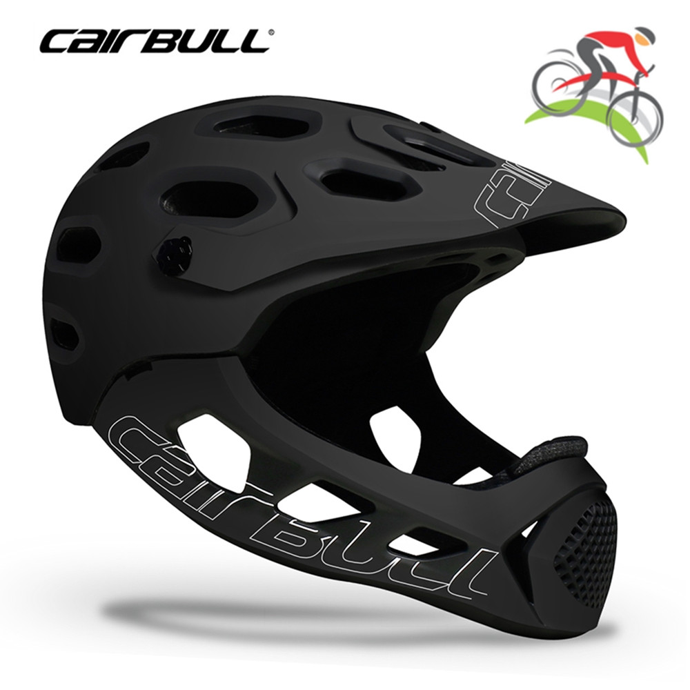 Cairbull Adults Full Face Bike Helmet MTB Mountain Bike Full Covered Cycling Downhill BMX Balance Skating Sports Safety Helmets