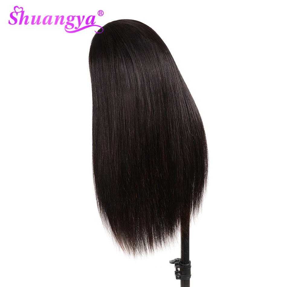 Shuangya Hair Lace Front Human Hair Wigs With Baby Hair Straight Human Hair Wigs Peruvian Lace Wig Remy Hair Lace Front Wig