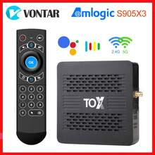 Vontar 5g wifi tox1 caixa de tv inteligente android 9.0 amlogic s905x3 4gb ram 32gb rom bt 1000m 4k media player hd conjunto caixa superior youtube