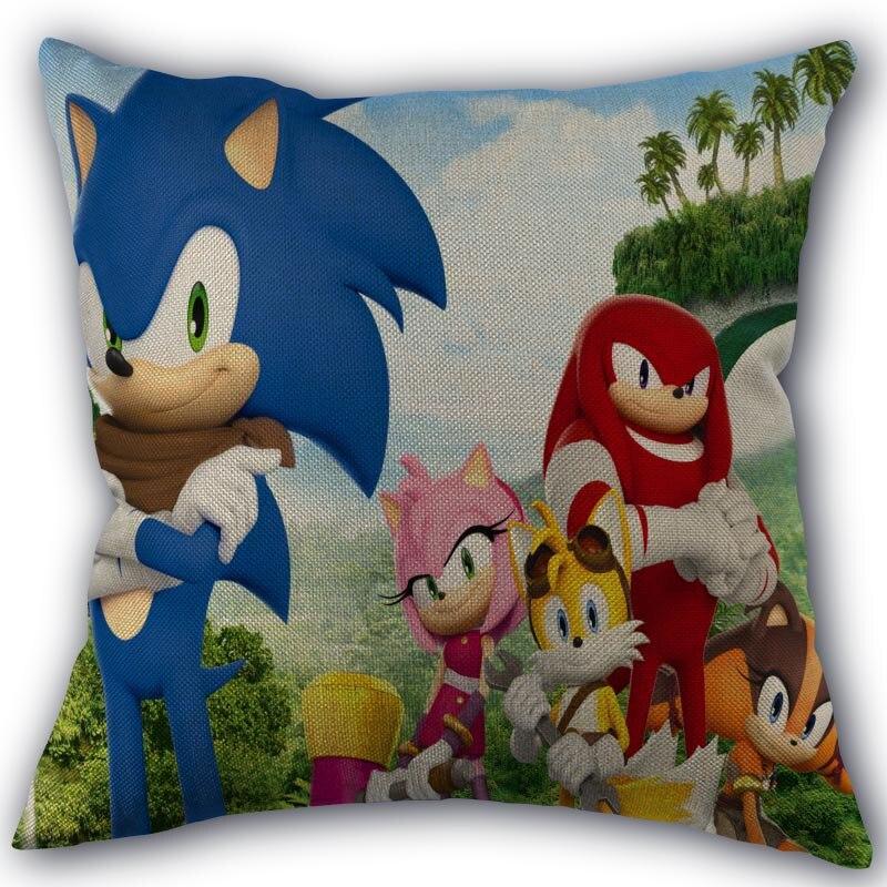 Custom Sonic The Hedgehog Pillowcase Cotton Linen Fabric Home Textile Square Pillowcase 45x45cm Wedding Decorative No Fade Pillow Case Aliexpress
