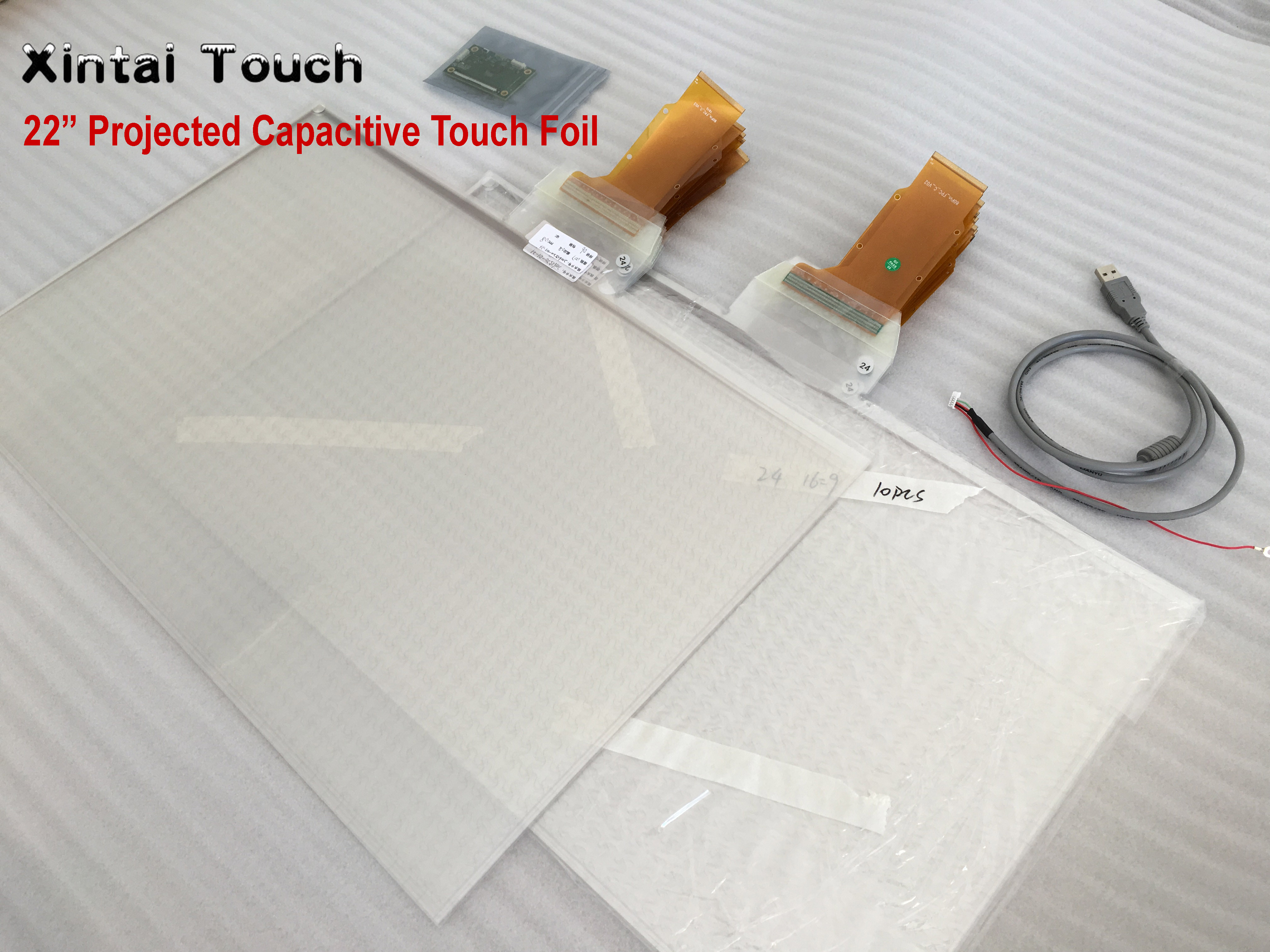 """22"""" real 10 points interactive touch foil Film through glass window shop Best price and cost"""