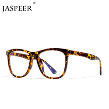 JASPEER Women Oversized Leopard Anti Blue Ray Light Glasses