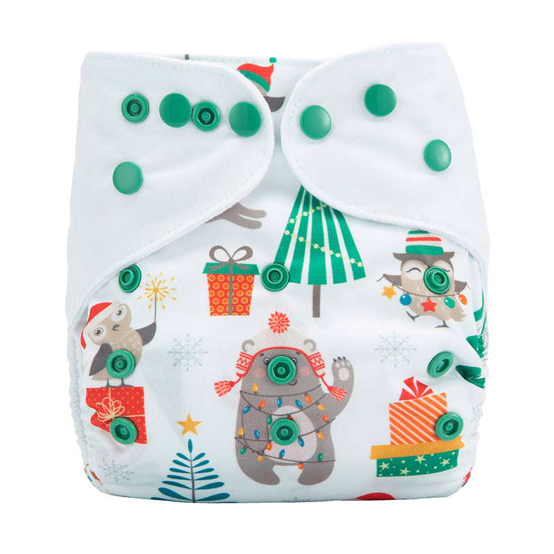 All In One Organic Baby Cloth Diapers Fox In Hat Eco Friendly Baby Reusable Washable Cloth Diaper DYX9