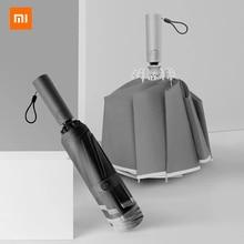 Xiaomi – parapluie à éclairage automatique, 10 os, niveau 5, étanche, forte protection solaire, anti déflagrant, impact inversé, nouveau