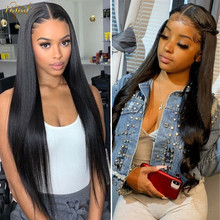 Straight Lace Front Wigs Malaysian 4x4 Lace Closure Wig URFIRST Human Hair Wigs For Black Women Pre Plucked 180 Density Lace Wig
