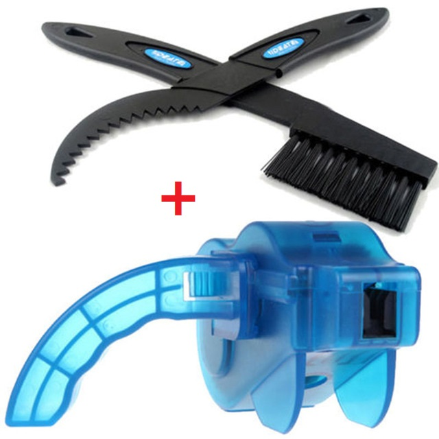 Portable Bicycle Chain Cleaner Bike Brushes Scrubber Wash Tools Mountain Cycling Cleaning Repair Kit Outdoor Accessories