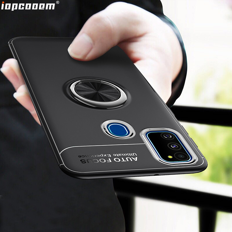 M30S Case For <font><b>Samsung</b></font> Galaxy <font><b>A10S</b></font> A20S A30S A40S <font><b>Coque</b></font> TPU With finger ring Magnetism Holder Phone Back Cover image