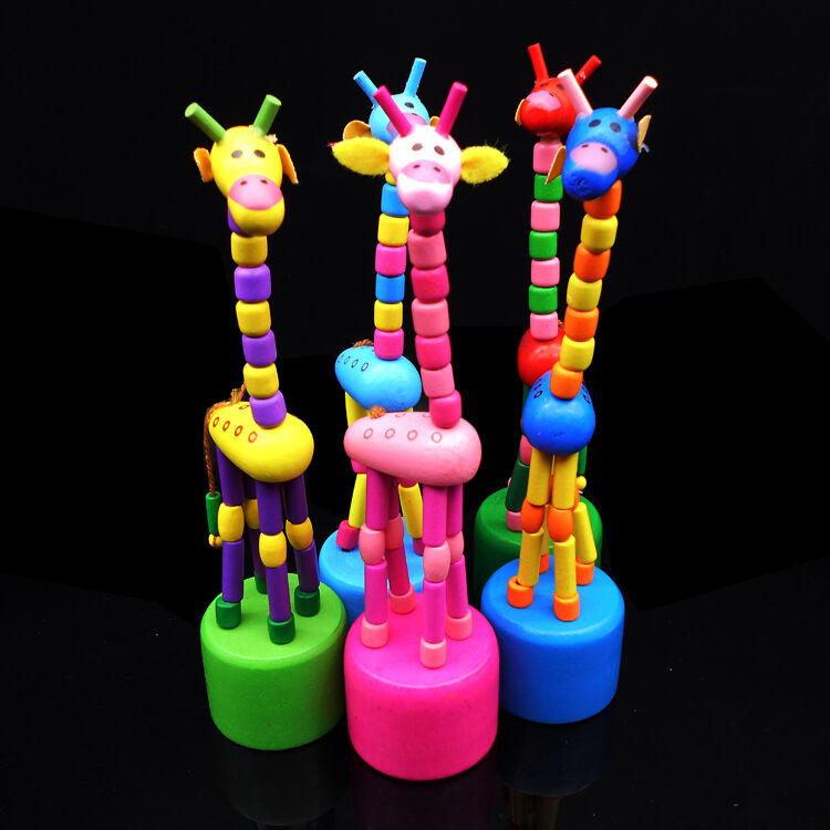 Brand New Baby Learning Wooden Gift Cute Kid Intellectual Early Educational Animal Giraffe Shape Colorful Toys Fashion Hot 2019