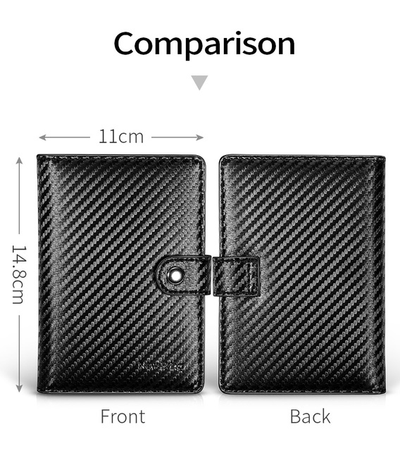 RFID Blocking Organizer Wallet Leather Wallet for Men Credit Card Case Passport Case
