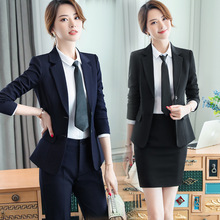 Female Elegant Formal Office Work Pant Suits 2 Pieces Set fo