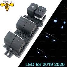 Z podświetleniem LED Power Window włącznik do toyoty RAV4 RAV 4 Corolla LEVIN Wildlander 2019 2020 podświetlenie lewa aktualizacja jazdy