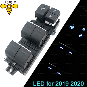 Image 1 - Z podświetleniem LED Power Window włącznik do toyoty RAV4 RAV 4 Corolla LEVIN Wildlander 2019 2020 podświetlenie lewa aktualizacja jazdy