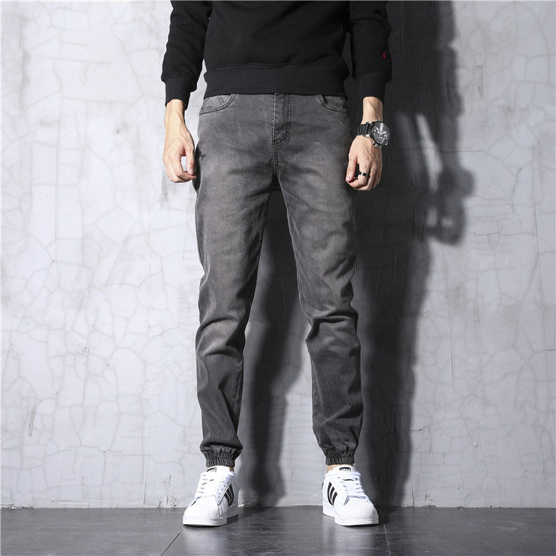 Japanese Style Fashion Men Jeans Vintage Designer Cargo Pants Harem Trousers Black Gray Blue Hip Hop Jeans Men Joggers Pants
