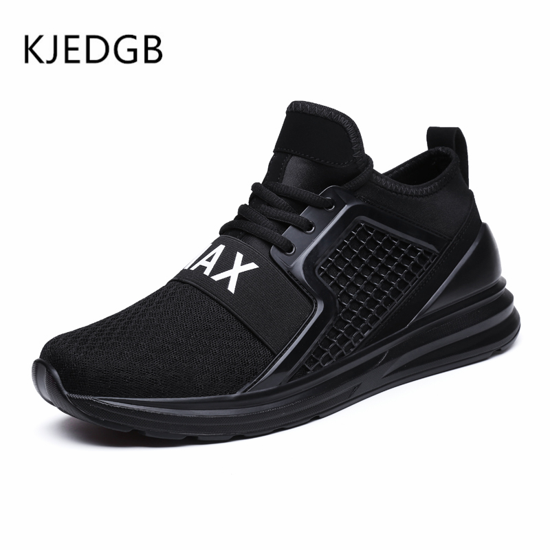 Image 3 - KJEDGB 2019 Breathable Mesh Men Sneakers Solid Black White Green Red Light Mens Casual Shoes size 39 47 Support Dropshipping-in Men's Casual Shoes from Shoes