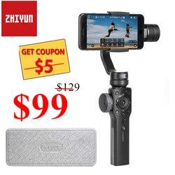 Zhiyun gładka 4 3 Axis Handheld Gimbal stabilizator/Focus Pull & Zoom dla iPhone Xs Max Xr X 8 Plus 7 6 SE smartfonów z systemem Android w Ręczne gimbale od Elektronika użytkowa na