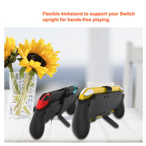 Image 5 - Nintend Switch And Switch Lite Mini 2019 Grip Case Ergonomic Non Slip Handle Stretchable  Handgrip with Detachable Hook Stand