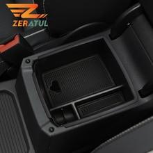 Zeratul רכב מרכז קונסולת ארגונית מגש משענת תיבת אחסון עבור פולקסווגן Tiguan MK2 2016 2017 2018 2019 2020 אביזרי רכב