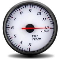 60mm ext calibre de escape temp ponteiro ar do carro combustível gás temperatura egt calibre para motocicleta carro escape temperatura medidor|Medidores de escape|Automóveis e motos -