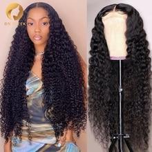 ONDA profunda peluca Frontal 30 32 pulgadas rizado pelucas de cabello humano para las mujeres negras Pre arrancado pelucas mojado y ondulado 13x4 de la onda de agua Hd Peluca de encaje