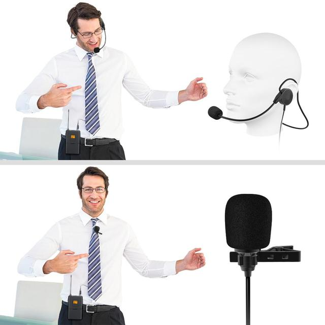 Lapel Microphone with Professional Headset
