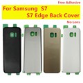 Задняя крышка батареи для S7 G930 Samsung крышка батареи для Samsung Galaxy S7 Edge G935F стеклянный корпус батарея задняя крышка задняя дверь