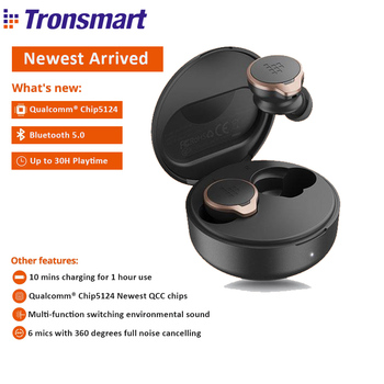 【QualcommChip5124】Original Tronsmart Apollo Bold ANC TWS Pro Wireless Bluetooth Earphones Handsfree Type c Earbuds Aptx hd buds