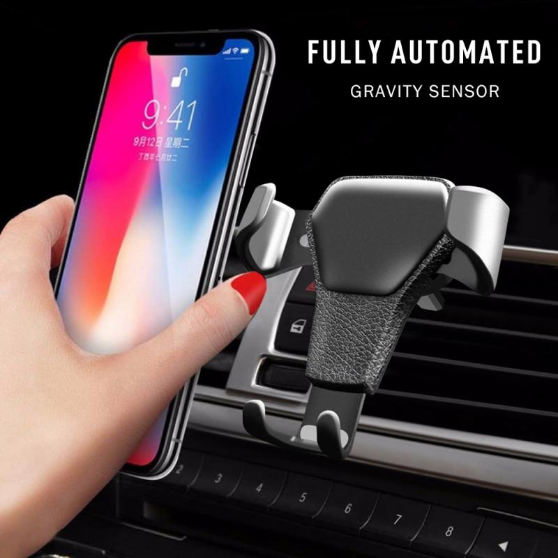 Gravity Car Phone Holder Long For Phone In Car Air Vent Clip Mount No Magnetic Mobile Phone Cell Stand Support For IPhone 11 XS