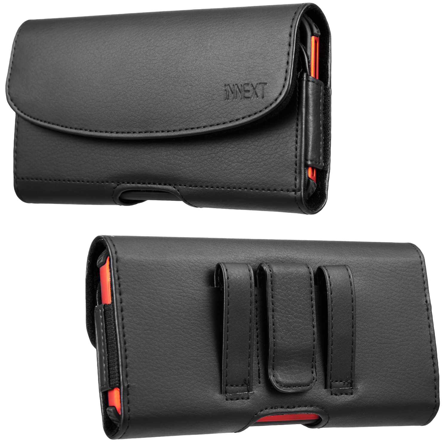 Universal Phone Case Pouch For Iphone XS Max 6 7 8 Plus For Samsung S9+ Belt Clip Smartphone Bag Holster Nylon Leather Cover