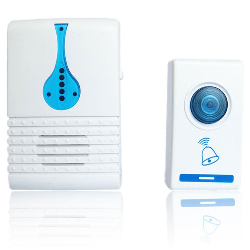 1PC Wireless Doorbell Battery Operated Door Bell With LED Flash 32 Chime 100M Range For House Office Hotel