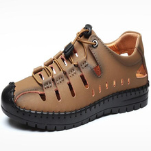 New 2020 Summer Shoes Men Sandals Genuine Leather High Quali